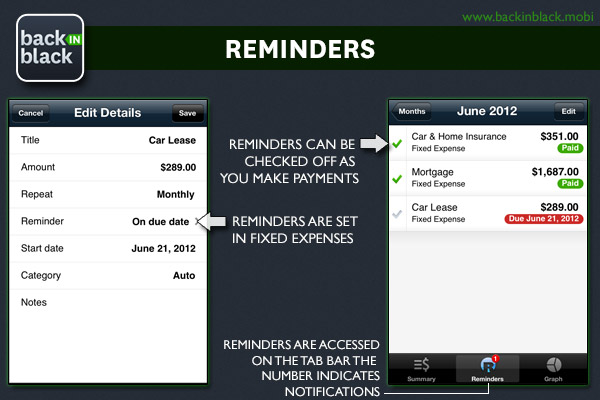 Reminders Feature